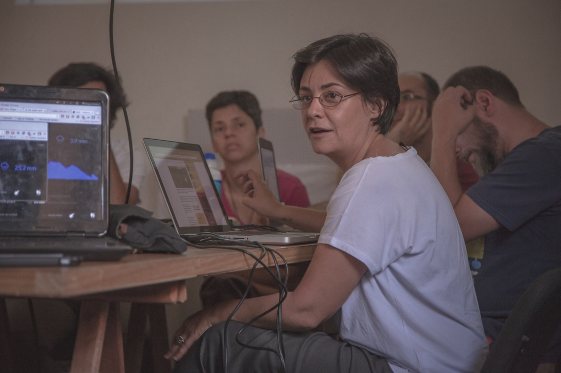 Maru Whately, pesquisadora do ISA, puxou os trabalhos sobre a crise da água na cidade de São Paulo, tema do segundo encontro