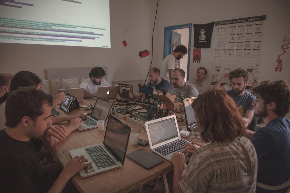 Encontros ocorreram no Garoa Hacker Clube de São Paulo e juntos reuniram 60 pessoas. Foto: Bruno Fernandes