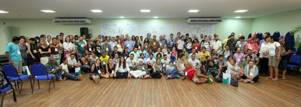 Participantes do 1o seminário de Monitoramento e Manejo Participativo, reunidos em Manaus. Foto: João Freire/ICMBio
